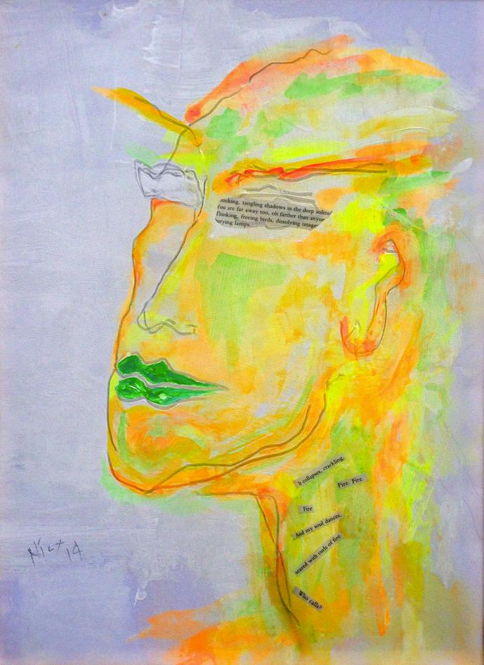 """Pablo Nr 104 / yellow / """"thinking tangling shadows.."""""""